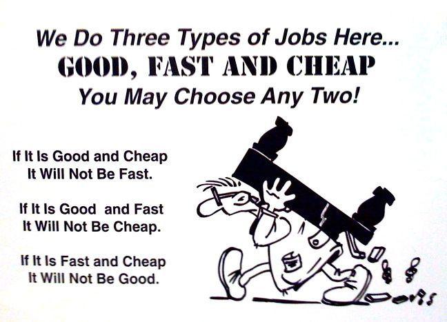 good fast cheap - Google Search