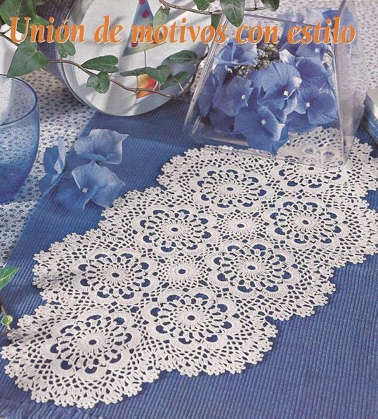como hacer caminos de mesa tejidos a crochet imagui