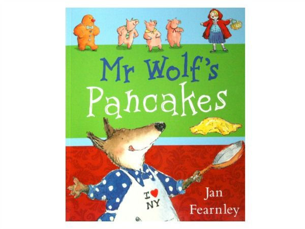 Mr Wolf's Pancakes, book review and related kids crafts and activities from damsonlane.com
