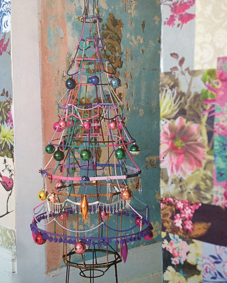 Christmas trees- Old lamp shades.. LOVE IT