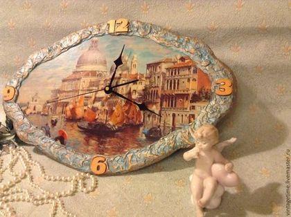 """Часы для дома ручной работы. Ярмарка Мастеров - ручная работа Часы """"Под парусом по каналам Венеции"""". Handmade."""