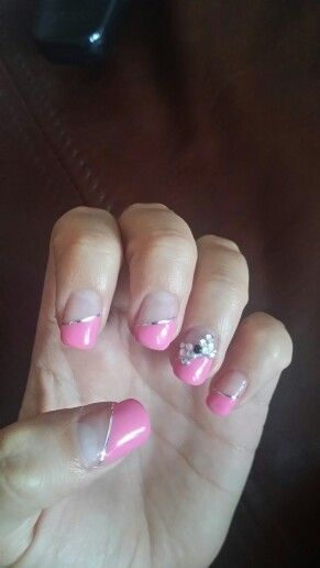 Barbie nails #lightpink