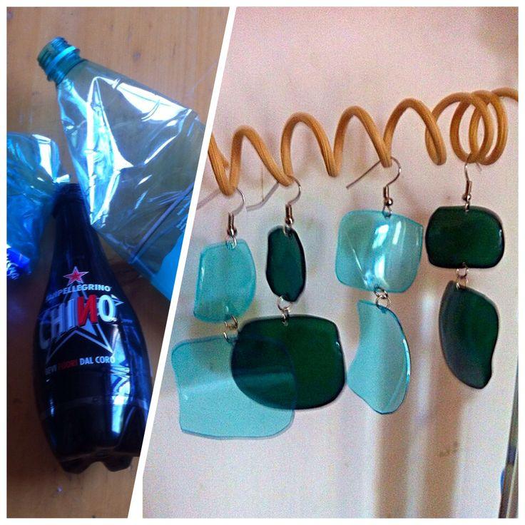 #earrings #orecchini #diy #plasticbottles #handmade #riciclocreativo #recycle