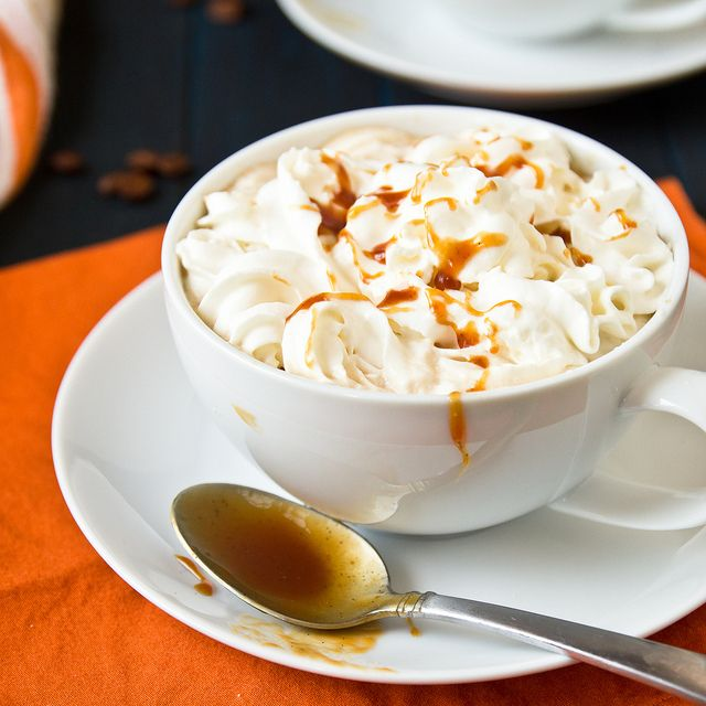 Homemade Pumpkin Spice Latte. I made this this pumpkin pie sauce and used it in my latte today! so good just like starbucks!!