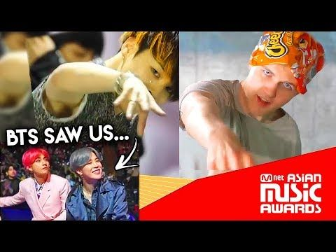 REACTING TO BTS WATCHING LANKYBOX AT MAMA 2018! - YouTube