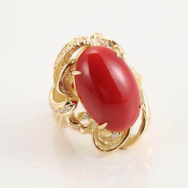 【GINZA PARIS】K18 红珊瑚 戒指/580,000日元