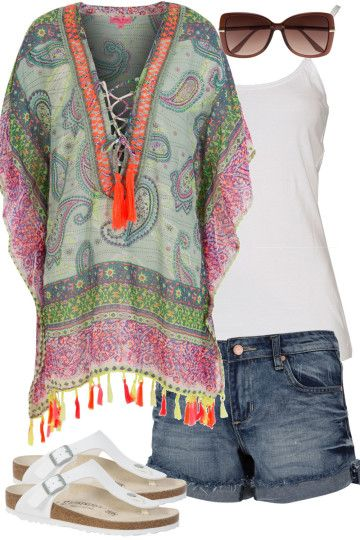 Paisley Promenade Outfit includes Betty Basics, Seafolly, and Birkenstock at Birdsnest Fashion