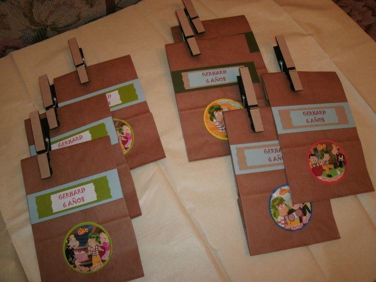Bolsitas de papel para dulces | Chavo del Ocho | Pinterest