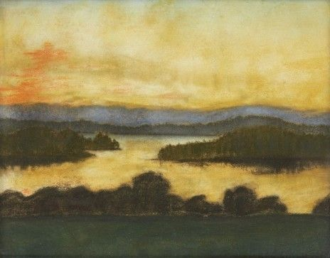 Symbolist landscape with a lake - Akseli Gallen-Kallela