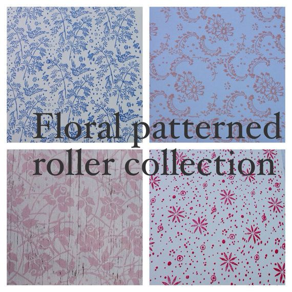 Patterned Paint Roller Collection of 4 Floral by NotWallpaper