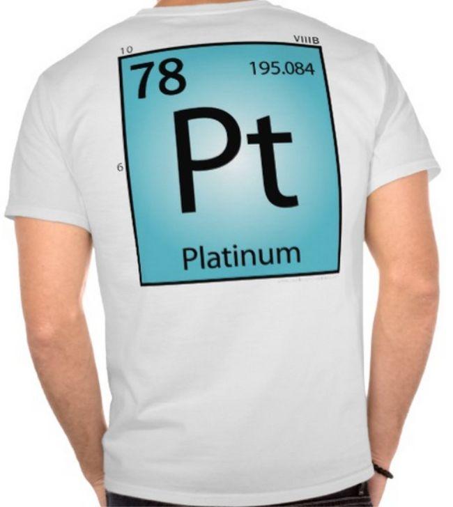 Platinum T-shirt / Periodic Table of Elements