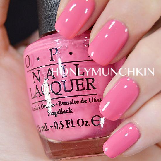 OPI Elephantastic Pink, medium pink creme. Beautifully pink!