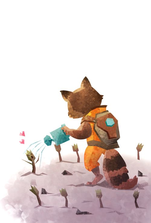 thingsfortwwings: [Image: Rocket Raccoon watering a little Groot sprout; Groot's arms are up, delighted by the water. There are a bunch of little Groot sprouts all around Rocket.] pilot-star: Guardians was pretty great.