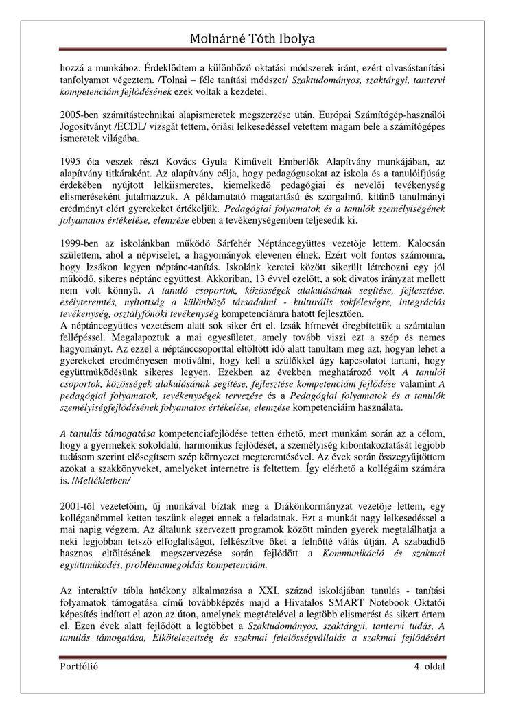 Molnárné Tóth Ibolya Szakmai önéletrajz   PDF Flipbook