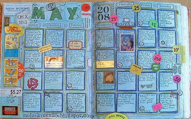 Art Journal Calendar Pages : Best images about art journaling calendars on