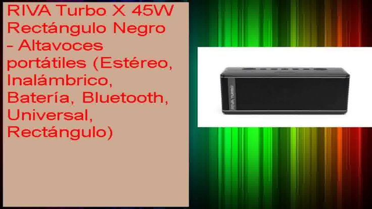cool RIVA Turbo X 45W Rectángulo Negro  Altavoces portátiles Estéreo Inalámbrico Batería Bluetooth Check more at http://gadgetsnetworks.com/riva-turbo-x-45w-rectangulo-negro-altavoces-portatiles-estereo-inalambrico-bateria-bluetooth/