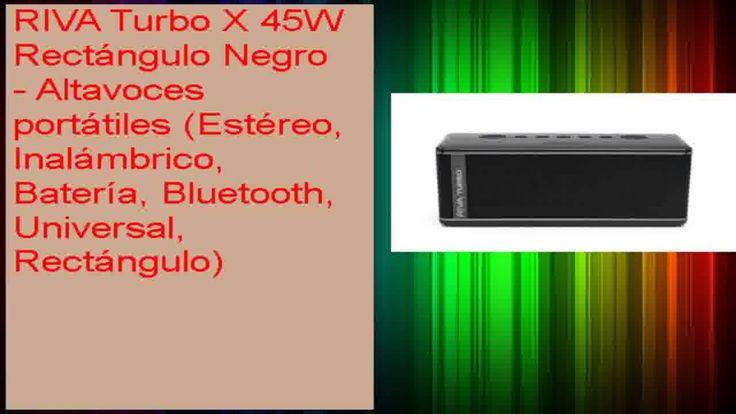 cool RIVA Turbo X 45W Rectángulo Negro  Altavoces portátiles Estéreo Inalámbrico Batería Bluetooth Check more at http://gadgetsnetworks.com/riva-turbo-x-45w-rectangulo-negro-altavoces-portatiles-estereo-inalambrico-bateria-bluetooth/