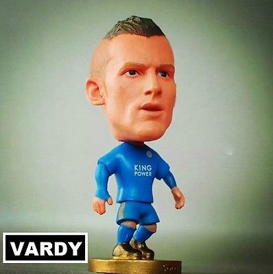 Doll JAMIE VARDY 9 LEICESTERCITY Blue jersey premierleague champions collectable toy miniature 7cm