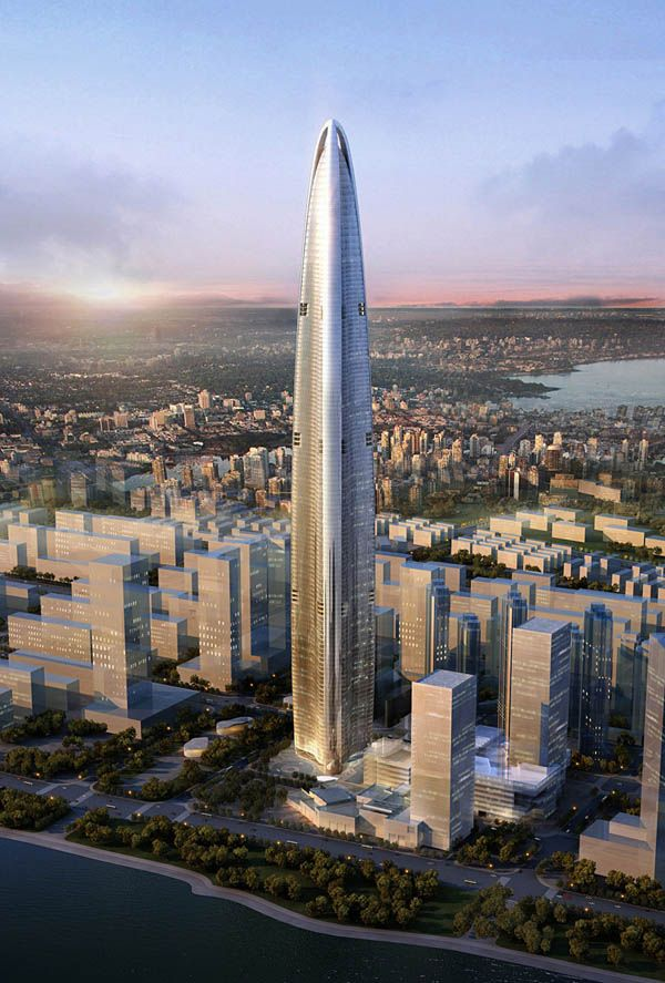 Sky-high Architecture: 606 Meter Wuhan Greenland Center Project   InteriorHolic.com