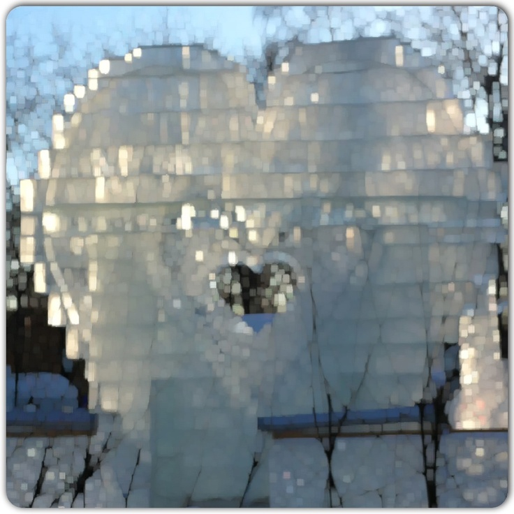 Big ice heart in Sokolniki