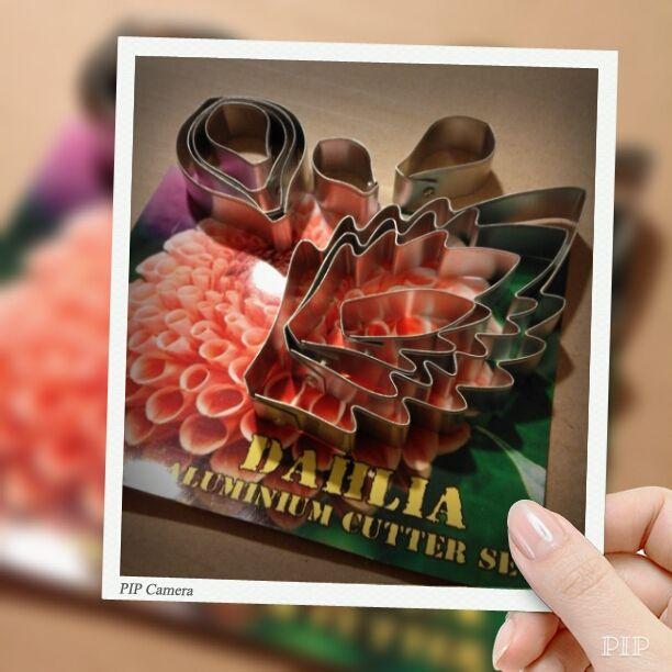 Cutter set Dahlia www.my-thai-sale.ru #cookiedecor #cookiecutter #fondantcutter #cuttershape
