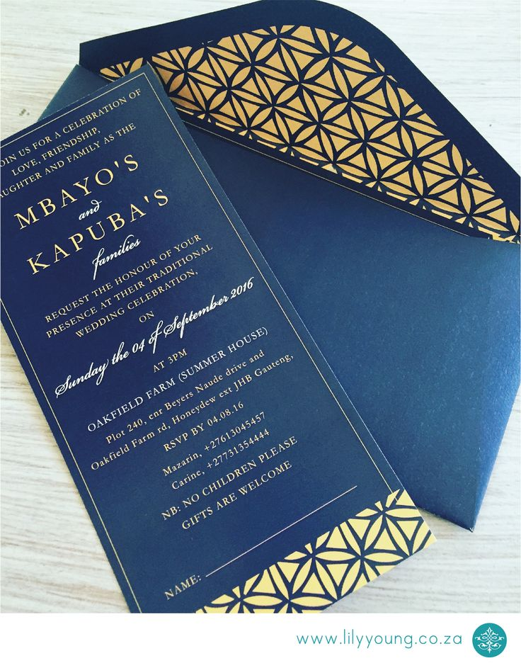 Navy Blue Gold Invitation DL With A Matching Bespoke Envelope Traditional  Meets70 Best Lily Young Invitations Images On Pinterest Lily