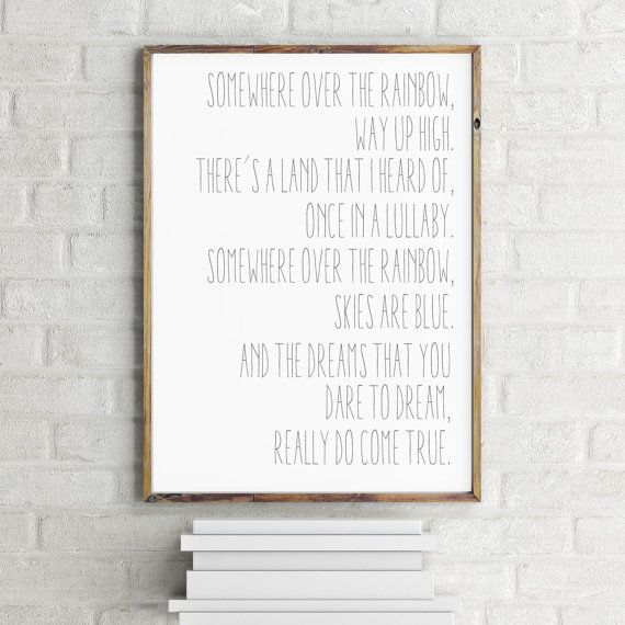 Art Print Somewhere Over the Rainbow Nursery Decor by JolieMarche