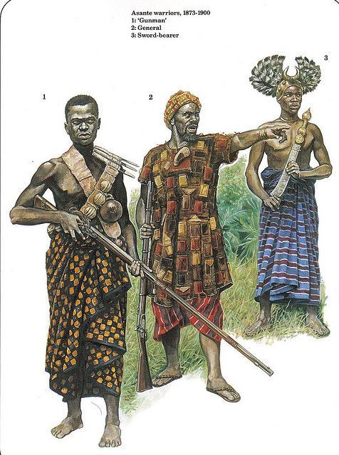 Warriors of the Ashanti Empire-- West Africa circa 1900