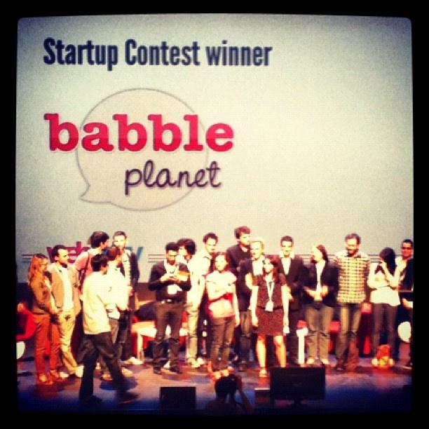 Bravo aux deux gagantes du Startup Contest avec leur application Babble Planet #web2day