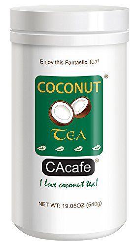 Cacafes Coconut Tea in Jar #28526 (Cane Sugar Added) - http://mygourmetgifts.com/cacafes-coconut-tea-in-jar-28526-cane-sugar-added/