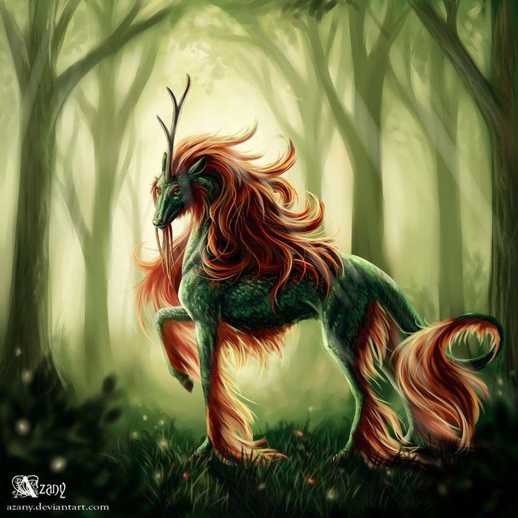 kirin creatures fantasy mythical mystical magical azany unicorn deviantart creature animals dragon unicorns lion winged mythological pegasus magic mythology result
