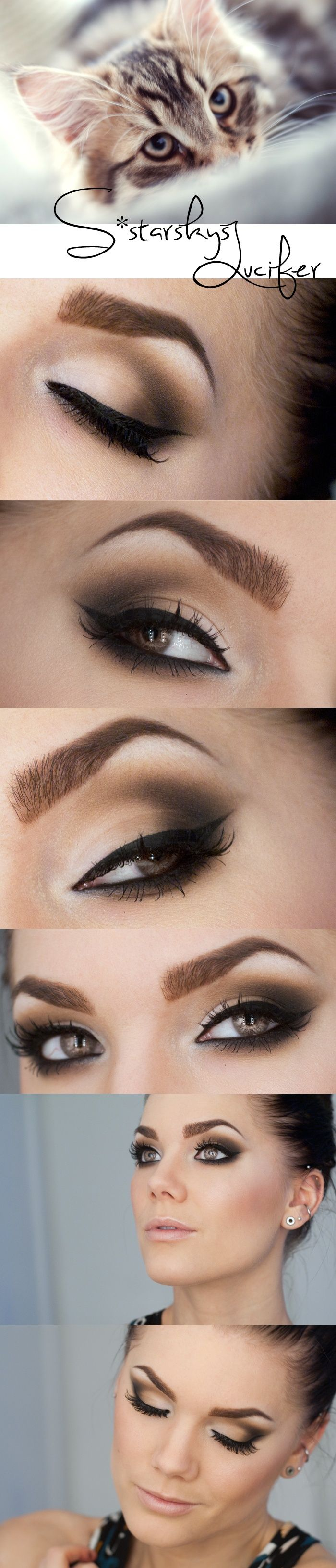 Cat inspired eye makeup, yes please!