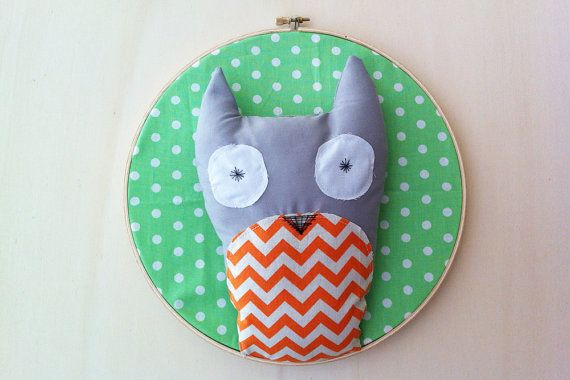 Owl Trophy Head Wall Art by GloriousBandits on Etsy, $40.00
