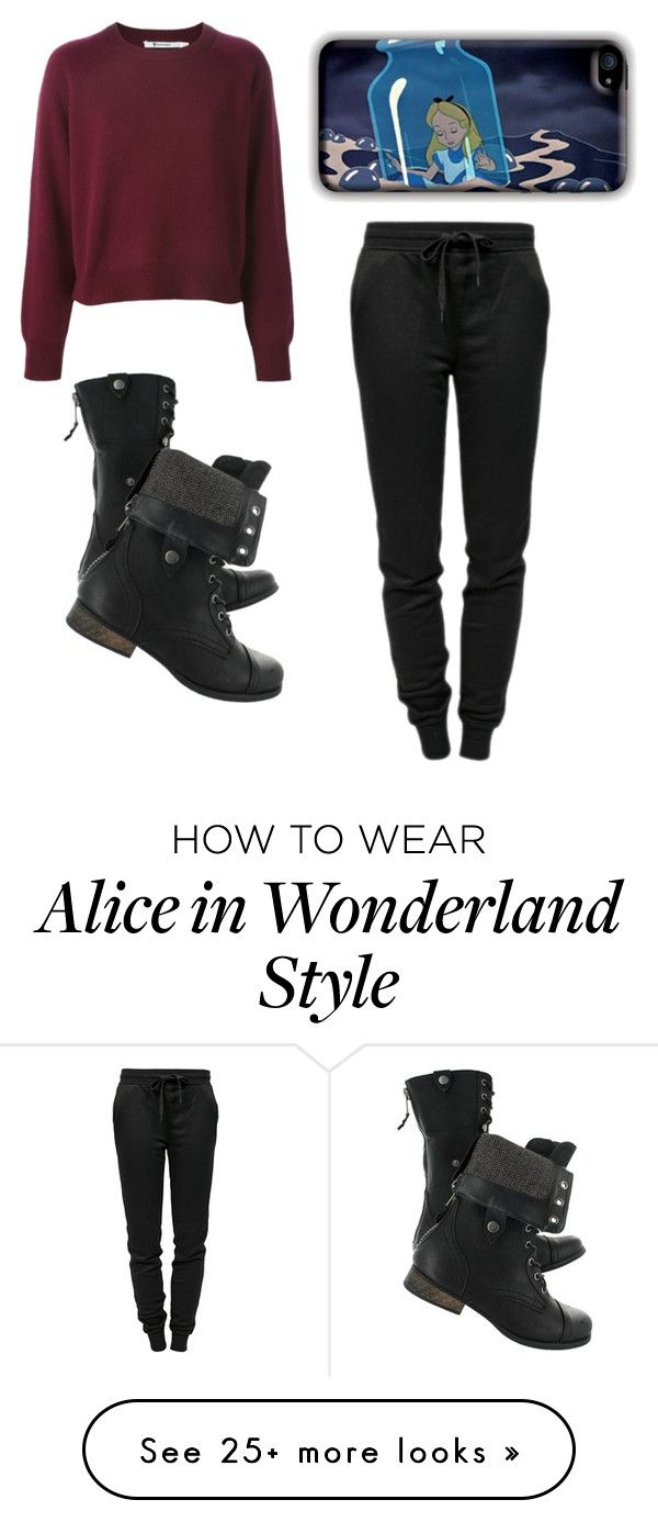 """""""Alice in Sweats"""" by you-shine-like-gold on Polyvore featuring T By Alexander Wang, StreetStyle, Sweater and sweatpants"""