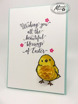 Stampin Utopia Bestel Stampin' Up! Hier. Stampin' Up! Sneak Peek Sale-A-Bration and Spring/Summer catalogue 2016, Honeycomb Happiness, Suite Saying. Easter Card
