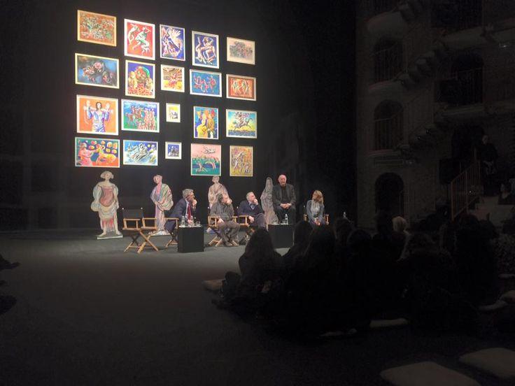 """Presentazione del volume """"Il teatro a disegni di Dario Fo con Franca Rame, Scalpendi editore  al Piccolo Teatro Studio Melato"""