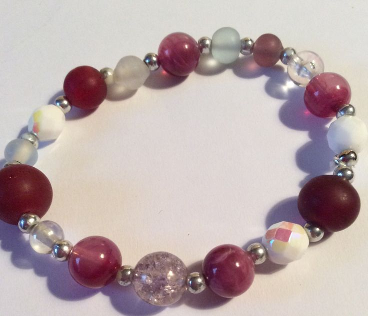 Beautiful+vintage+Glass+Beaded+In+shades+of+Wine+Plum+Bracelet+Accessory+Winter+Fashion+by+AliceAndBettyDesigns+on+Etsy