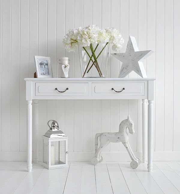 Back To Provence White Console Table