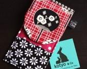 Etui, housse, pochette portable Kotyo & Co éventail rouge et noir...