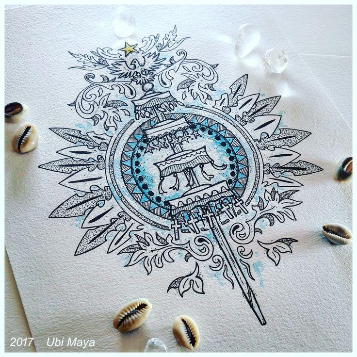 Arte encomendada, destino: Califórnia-EUA. BRASÃO DE OXALÁ. Encomendas/orçamentos através do e-mail: notovic@gmail.com