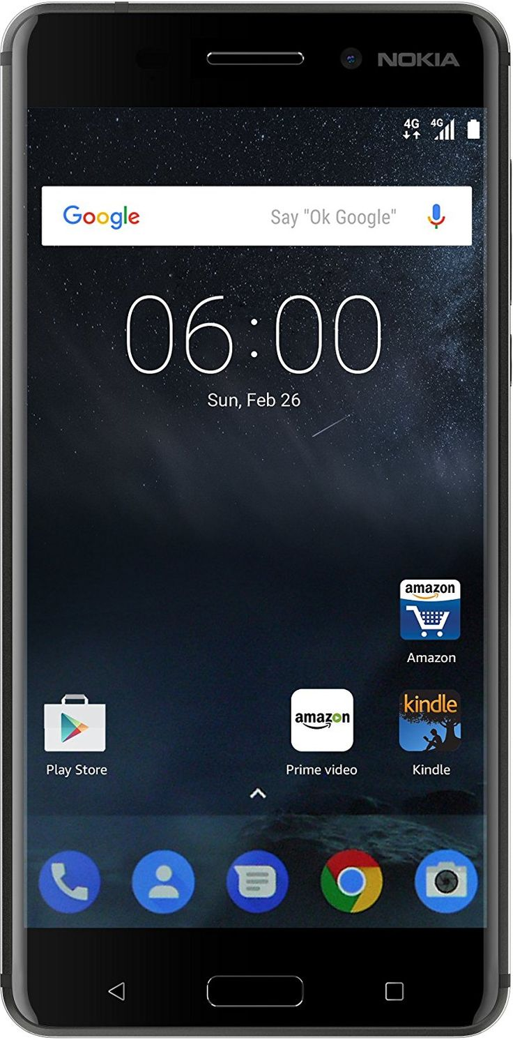 Buy Nokia 6 Matte Black at ₹14,999 at Amazon India