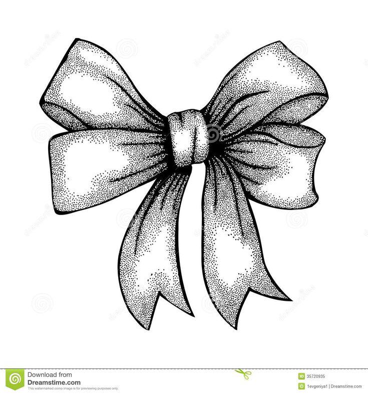 ribbon bow drawing beautiful