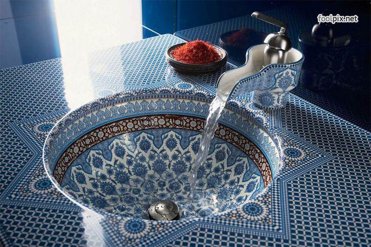 Необычный дизайн раковины для ванной