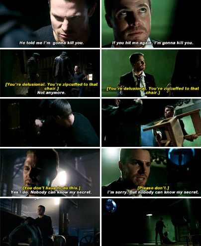 """I'm sorry. Nobody can know my secret"" - Oliver Queen #Arrow ((Pilot parallel))"