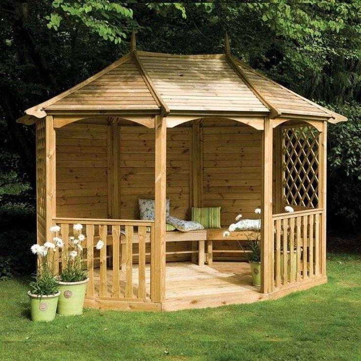 215 best jardin images on Pinterest Decks, Furniture ideas and - construire un cabanon de jardin en bois