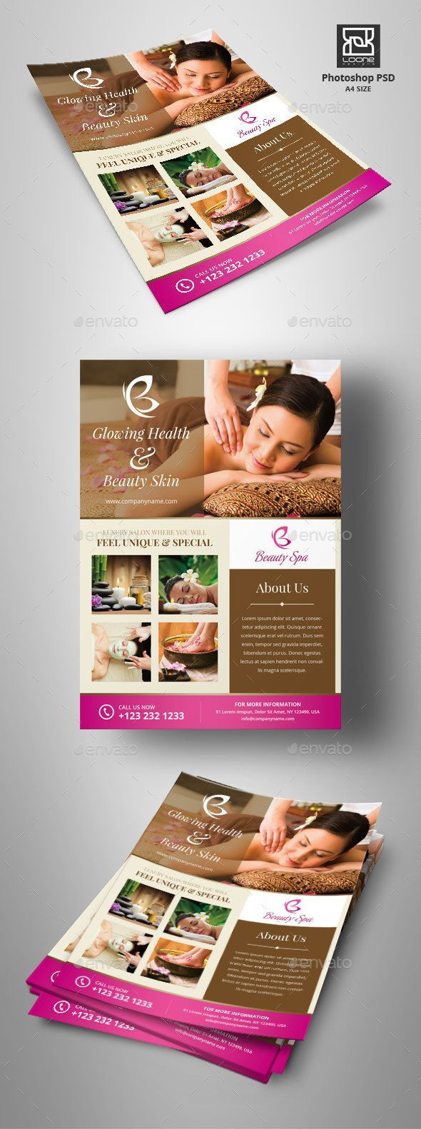 #Spa #Flyer #template - #beauty #salon #Corporate #business #promo Flyers #design. download; https://graphicriver.net/item/spa-flyer/20418942?ref=yinkira