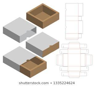 Box Packaging Die Cut Template Design เวกเตอร์สต็อก (…