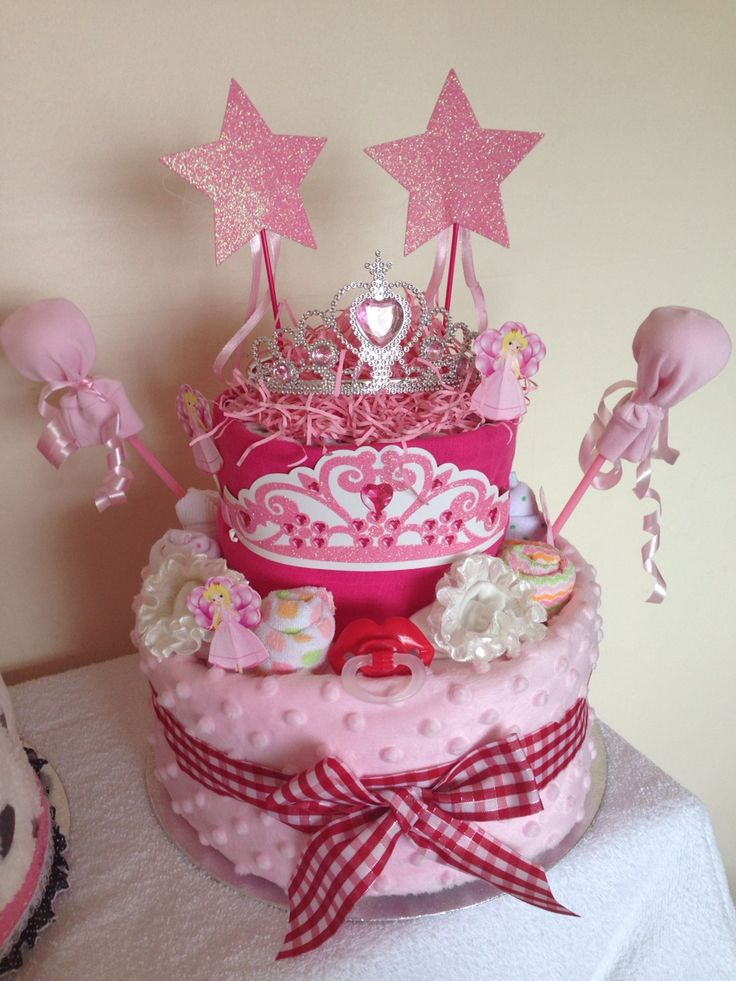 Little princess nappy cake beautiful centre piece for baby shower