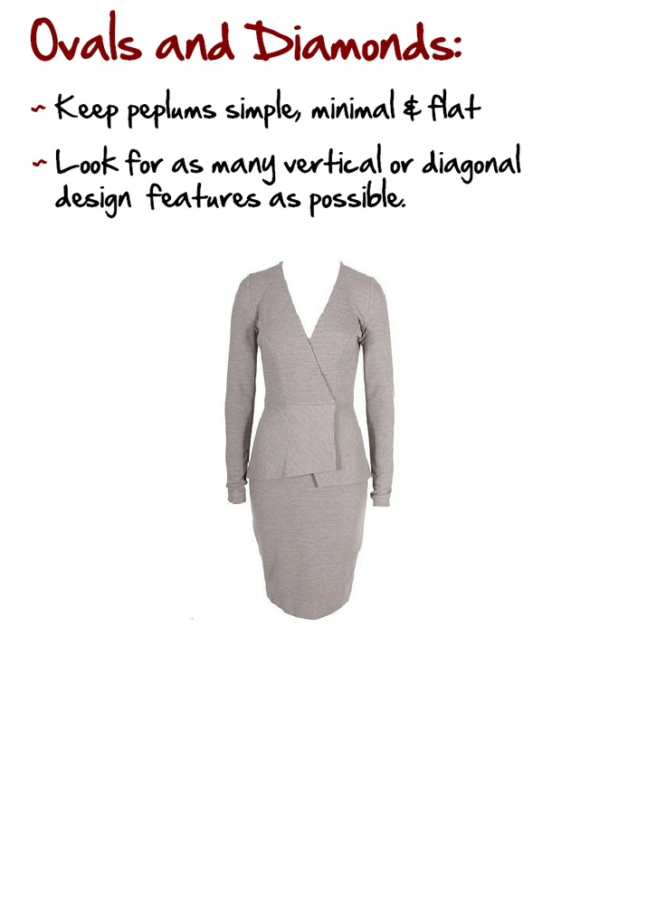 Oval and Diamonds: Full figured women who have a large stomach.  Diamonds has a high stomach, while Ovals have a low stomach.  www.myprivatestylist.com