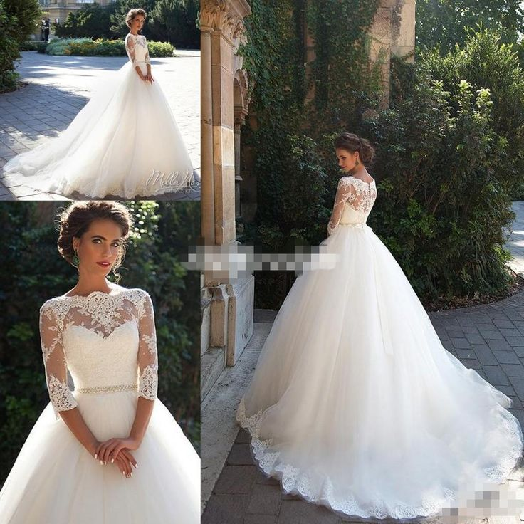 I found some amazing stuff, open it to learn more! Don't wait:https://m.dhgate.com/product/vintage-lace-3-4-long-sleeve-ball-gown-wedding/381075027.html